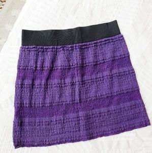 Free People Purple Mini Skirt